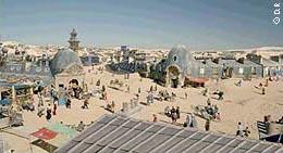 Париж, поглощенный песками в 2070 г., в фильме «Может быть» (1999) Седрика Клапича