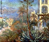 Les villas à Bordighera (1884), de Claude Monet.